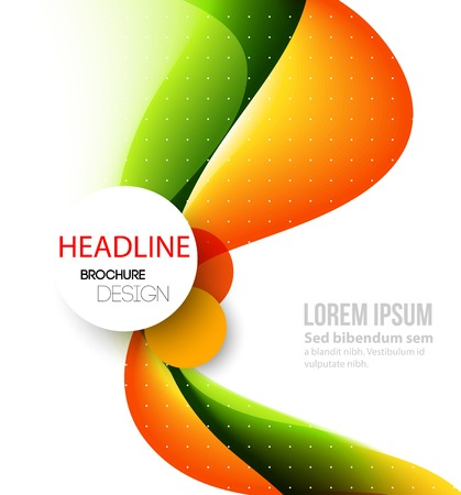 curved lines: Vector Abstract curved lines background. Template brochure design