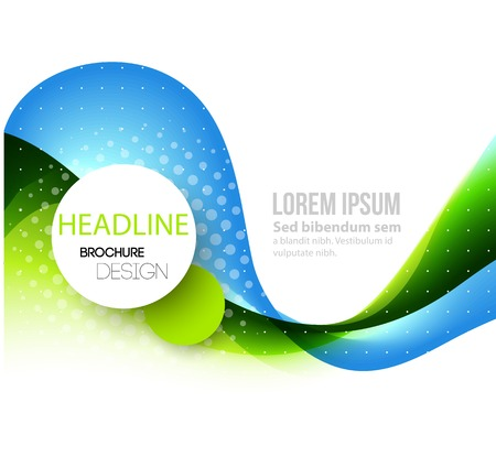abstract line: Vector Abstract curved lines background. Template brochure design