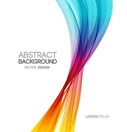 抽象的なベクトル線背景の曲線。テンプレートのパンフレットのデザイン