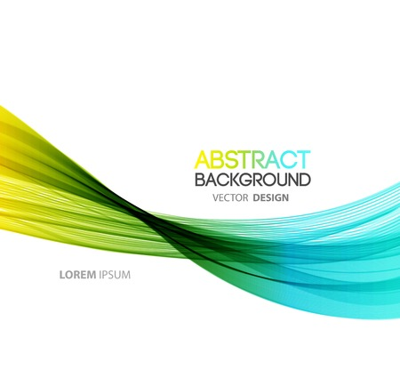 blue energy: Vector Abstract curved lines background. Template brochure design