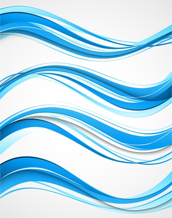 smooth curve design: Vector Abstract curved lines background. Template brochure design