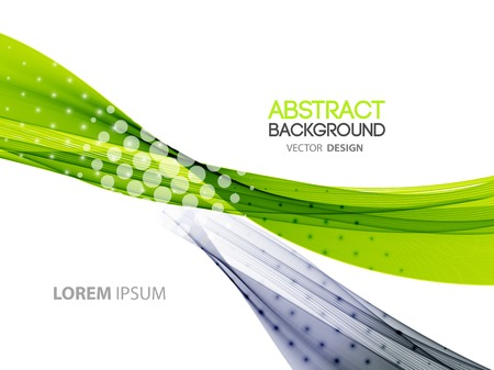 Vector Abstract color lines background. Template brochure design Illustration