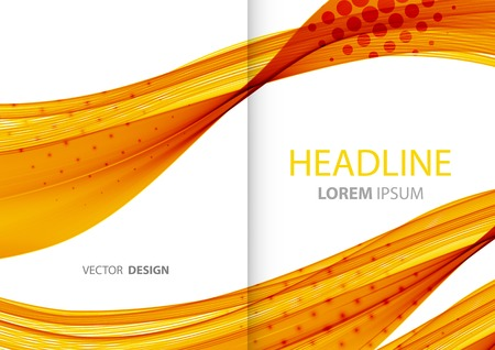 designs: Vector Abstract color lines background. Template brochure design Illustration