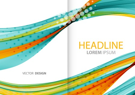 Vector Abstract color lines background. Template brochure design Ilustração