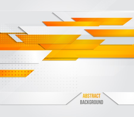 orange color: Vector abstract business background. Template brochure design