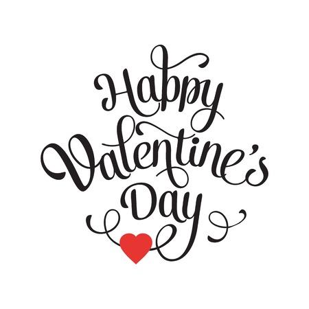saint valentin coeur: Carte heureux vintage Saint Valentin avec un lettrage