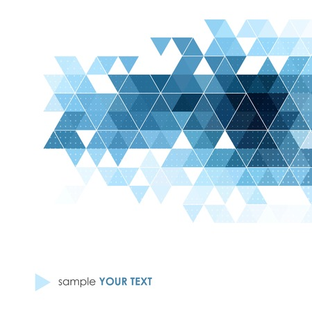 Vector Abstract retro geometric background. Template brochure design