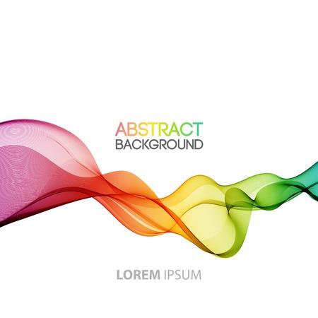 Vector Abstract smoky waves  background. Template brochure design Иллюстрация
