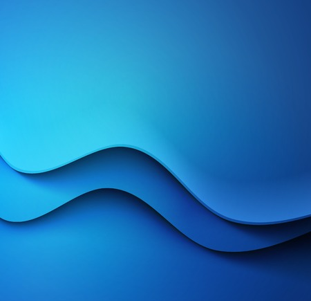computer art: Abstract colorful blue  vector template waved background.