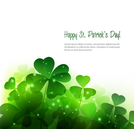 clover banner: Vector Happy Saint Patricks Day Background with clover
