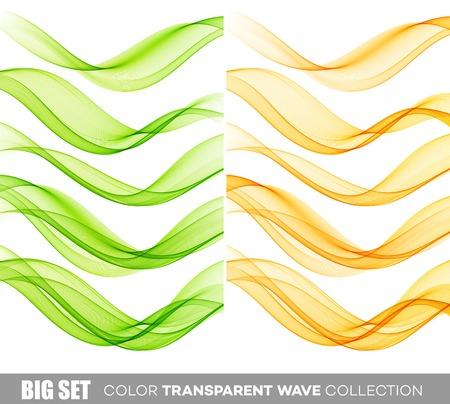 enfumaçado: Vector cor onda smoky transparente