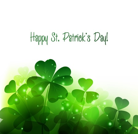 clover backdrop: Vector Happy Saint Patricks Day Background with clover