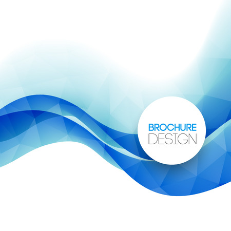 eps 10: Abstract colorful blue vector template background. EPS 10