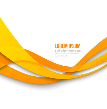 Vector Abstract curved lines background. Template brochure design