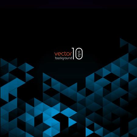 Abstract blue polygonal triangles poster. Vector illustration. Illustration