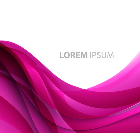 Vector Abstract purple curved lines background. Template brochure design