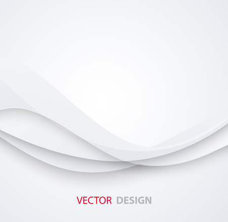 White elegant business background.  Vector illustration. Paper design Ilustração