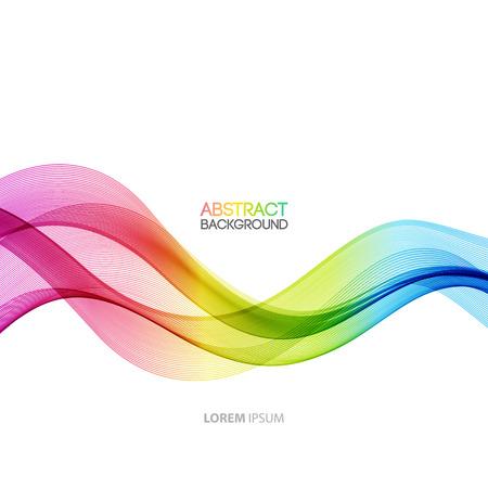 Vectorielle Abstract courbé lignes de fond. Conception de la brochure modèle Banque d'images - 38153669