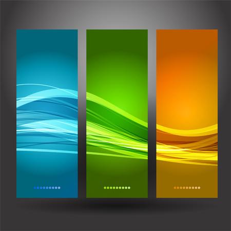 Vektor-Abbildung Sammlung Banner moderne Wave-Design Standard-Bild - 38891205