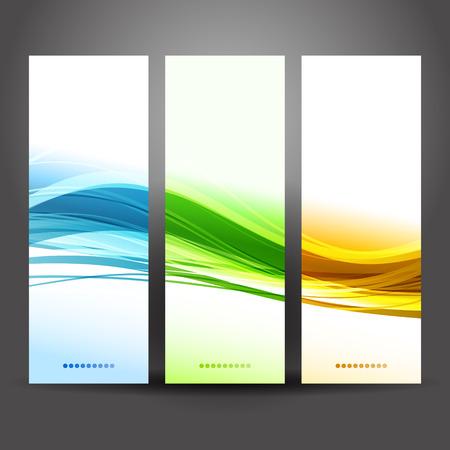 Vector illustration Collection banners modern wave design Illustration