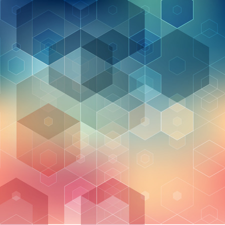 Vector  illustration Abstract geometric background with hexagon