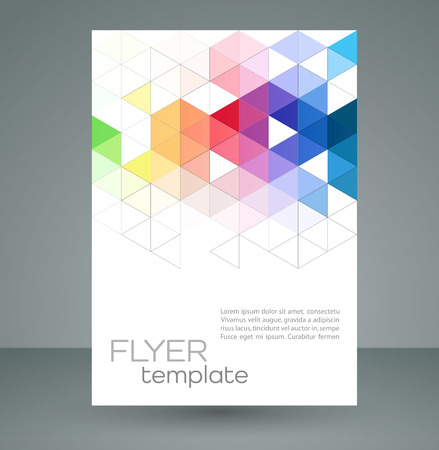 colours: Vector color abstract geometric banner with triangle shapes.