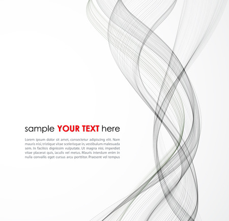 Vector Abstract gray lines background. Template brochure design Ilustração