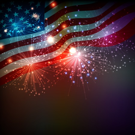 patriotic usa: Fireworks background for 4th of July Independense Day