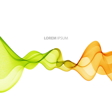 lines background: Vector Abstract color curved lines background. Template brochure design