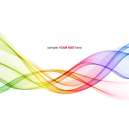 wave design: Vector Abstract spectrum curved lines background. Template brochure design