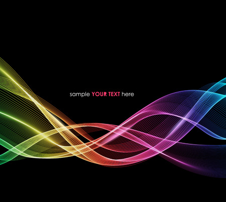 Vector Abstract spectrum curved lines background. Template brochure design