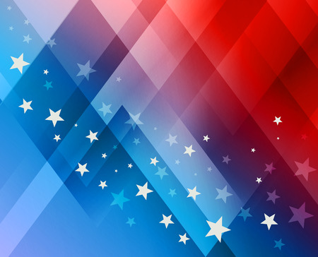 stars and stripes background: Fireworks background for 4th of July Independense Day