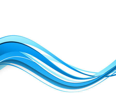 curved lines: Vector Abstract blue curved lines background. Template brochure design Illustration