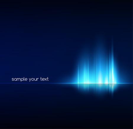 licht: Vector illustration Abstrakt dunklen Hintergrund mit glänzend Lichtlinien Illustration
