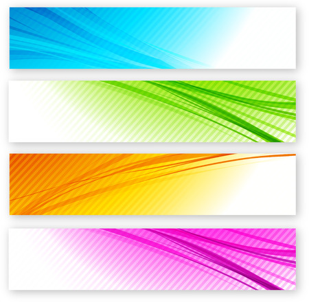 Abstract background with color lines. Vector illustration.