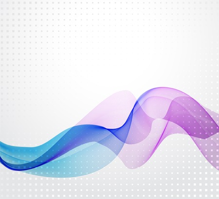 wave backdrop: Abstract colorful vector background with transparent wave Illustration