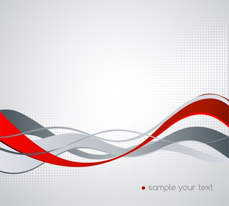 red wave: Abstract colorful vector background with waved line