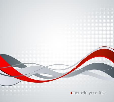 curvas: Vector de fondo colorido abstracto con la l�nea ondulada Vectores