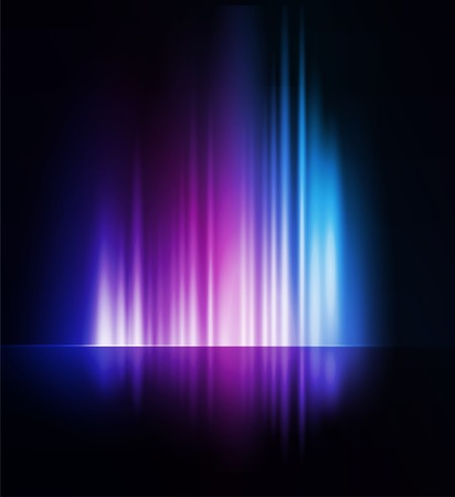Vector illustration Abstract dark background with shiny light lines Vettoriali