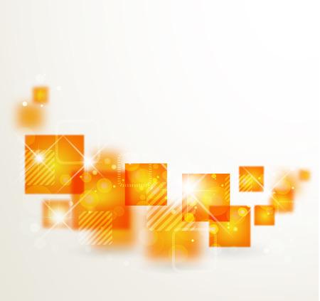 abstrakcja: Abstrakcyjne tło z pomarańczowym stylizowane abstrakcji geometrycznej