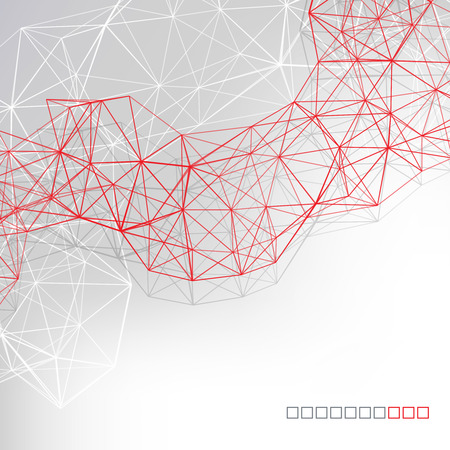 geometric shapes: Abstract technology background in color. Vector illustration. Illustration