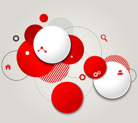 for design: Vector Modern Design Circle template for infographics Illustration