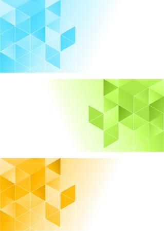 ベクトル色抽象幾何学的のバナーの三角形の。
