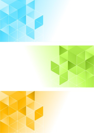 concepts and ideas: Vector color abstract geometric banner with triangle.
