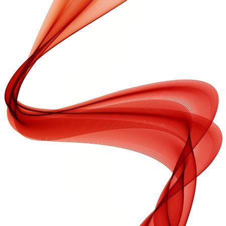 in the smoke: Fondo colorido Ilustración vectorial abstracto con la onda humo rojo Vectores