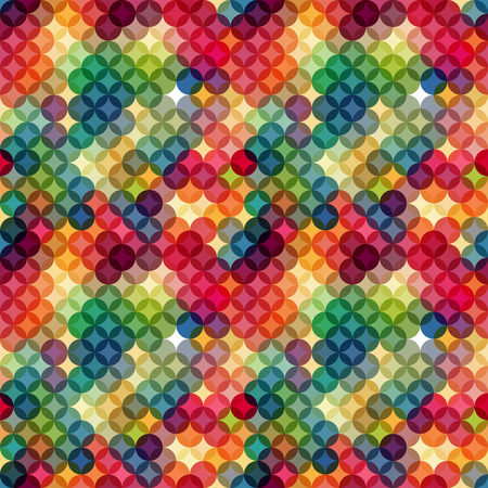Abstract colorful  retro geometric background. Vector illustration