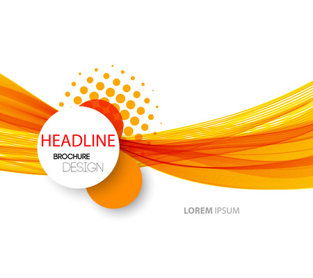 Vector abstract orange wave background for flyer design