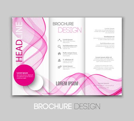leaflet design: Vector illustration template leaflet design with color lines Illustration