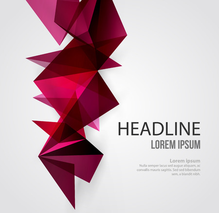 triangular banner: Vector Abstract Geometric Background. Triangular design. Low poly abstraction