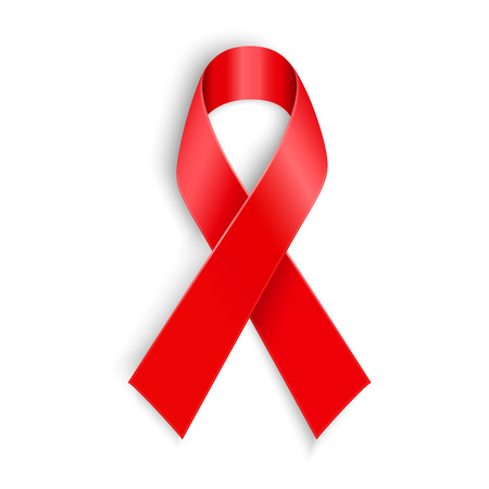 aids symbol: AIDS Vector illustration AIDS awareness red ribbon on white background. awareness red ribbon on white background. Illustration